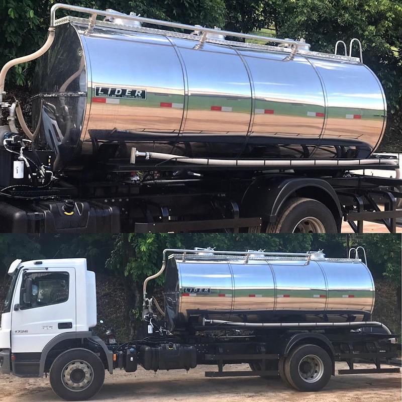 Tanque de inox para transporte de leite
